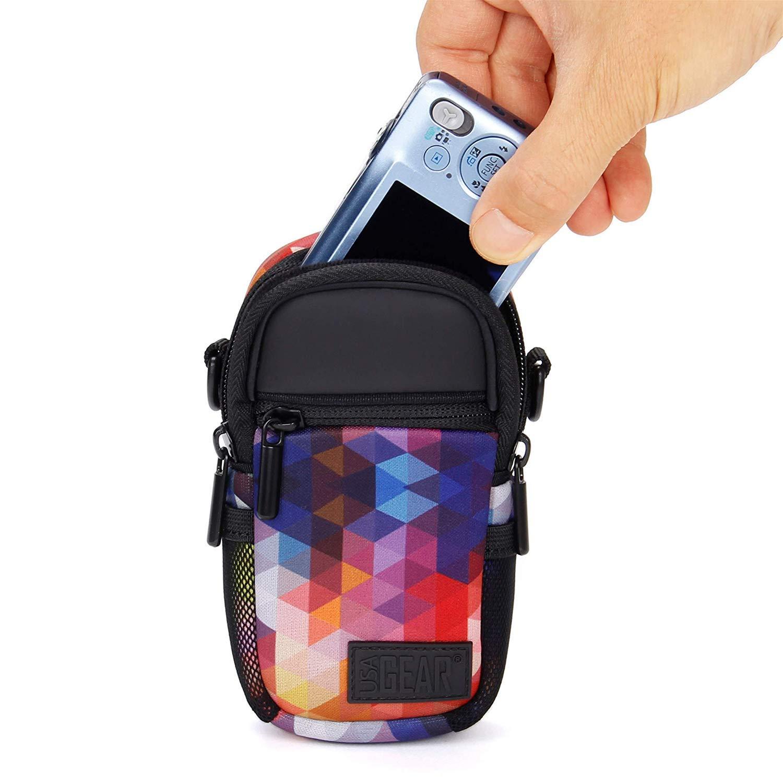 Nikon Coolpix e Altri Accessory Power USA Gear Borsa Custodia a Tracolla Sacchetto per Fotocamera Digitale Compatta con Parapioggia Si Adatta a Olympus Stylus TG-4 Sony Canon Ixus