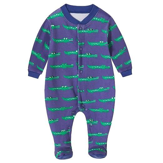 Schmoopy Baby Boy Crocodile Footed Pajamas Sleeper 0-6 Months