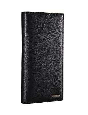 Banuce Men's Genuine Leather Bi-fold Breast Long Wallet