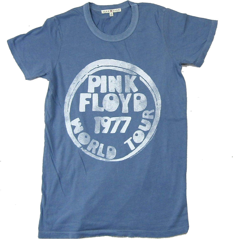 Pink Floyd World Tour 1977 Juniors Blue T Shirt