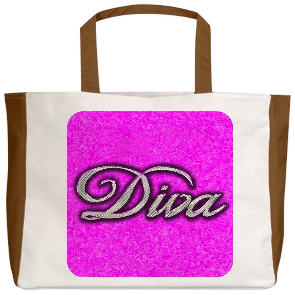 2-Sided Royal Lion Beach Tote Pink Diva Princess