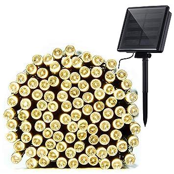 100 LED 39ft Solar Powered Fairy Lights String For Outdoor Garden Xmas Christmas