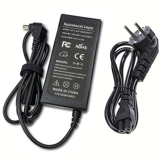 PFMY 19V 3,42A 65W Laptop Netzteil Ladegerät Ladekabel Kompatibel für Acer Aspire One E1 E3 E5 E5-771 E13 E15 E17 ES1 V3 V3-5
