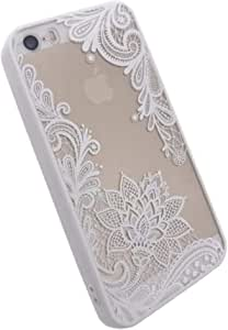 cover, Floral Phone case For Apple iPhone 7 Lace color white