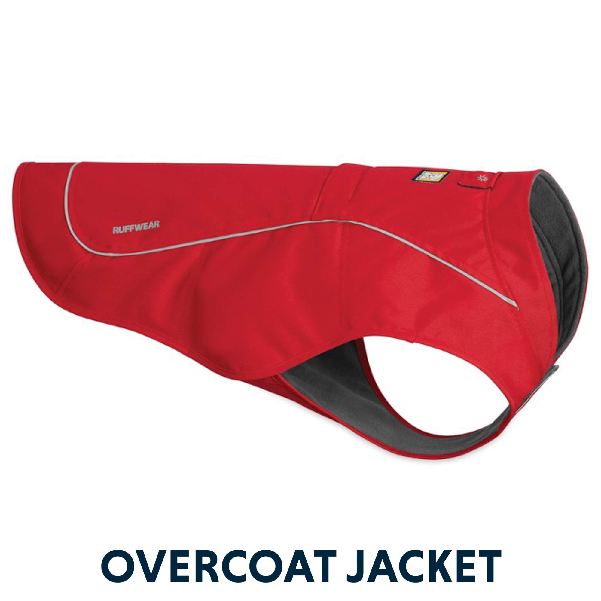 RUFFWEAR - Overcoat Fleece Lined Water Resistant Cold Weather Jacket for Dogs, Red Currant, Small