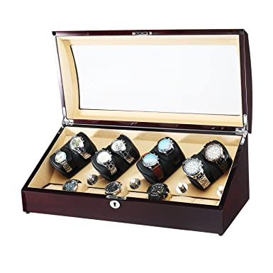 Amazon Com Olymbros Automatic Watch Winder 8 8 Storage Boxes For 16