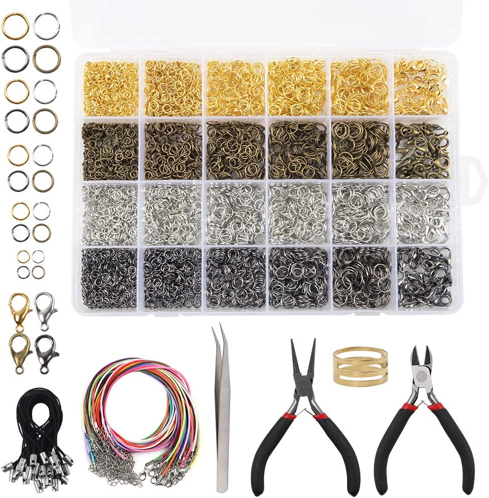 Jewelry Findings Kit with Open Jump Rings