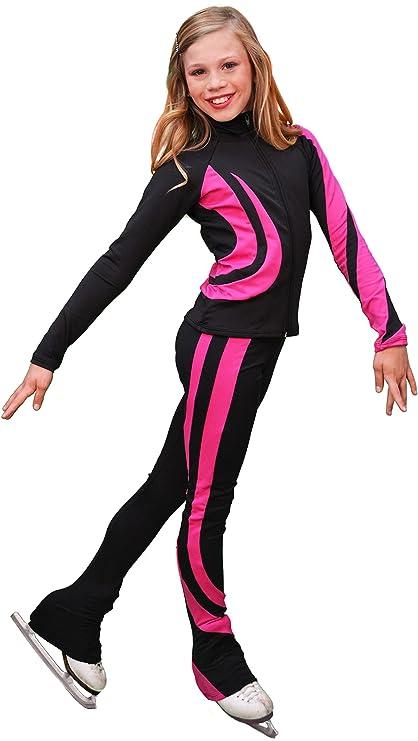 a2969dceb2dea Amazon.com: Chloe Noel Figure Skating Swirls Jacket J26: Sports ...