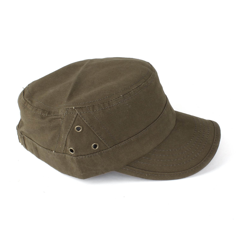 JOHNNY CHICOS Castro Cap Feldmütze Unisex Vintage Schirmmütze Army Khaki Schwarz Military Cap Mütze Kappe