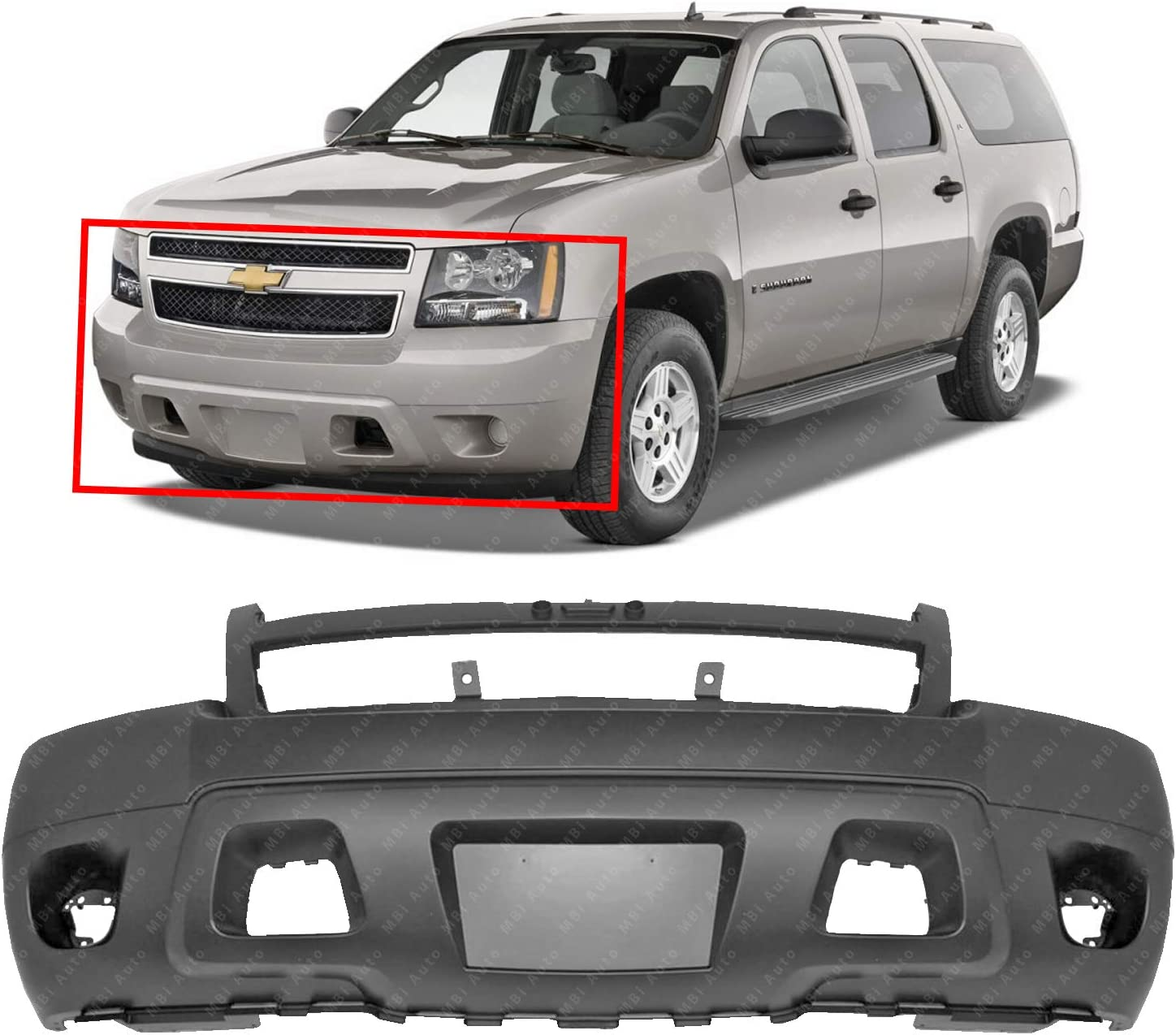 Primed w//o Off Road Pkg AVALANCHE//SUBURBAN 07-14 FRONT BUMPER COVER