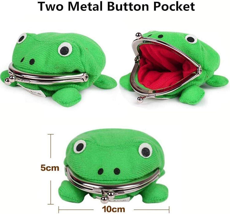 accessoires de cosplay niyin204 Adorable porte-monnaie en peluche en forme de grenouille verte pour enfants porte-monnaie porte-cl/és