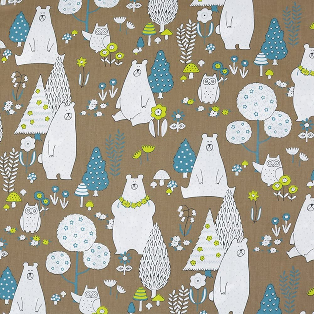 15.7x19.7 6pieces 40x50cm Cartoon Animals Cotton Fabric for Patchwork Quilting Cushion Pillows Cover Cloth Telas to Sewing