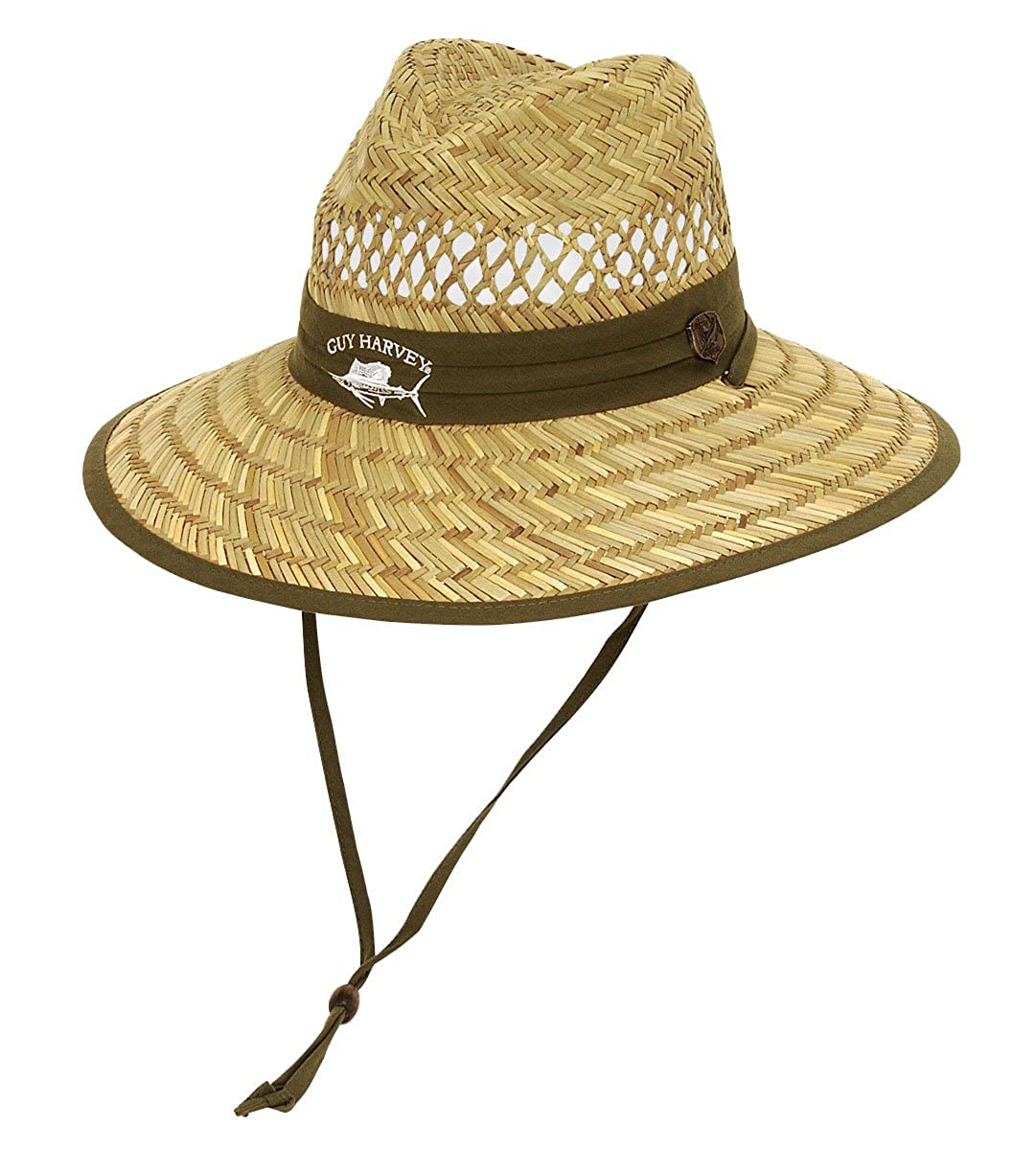 e960ab39d393b Guy Harvey Mens Sailfish Straw Fishing Hat One Size Green at Amazon Men s  Clothing store