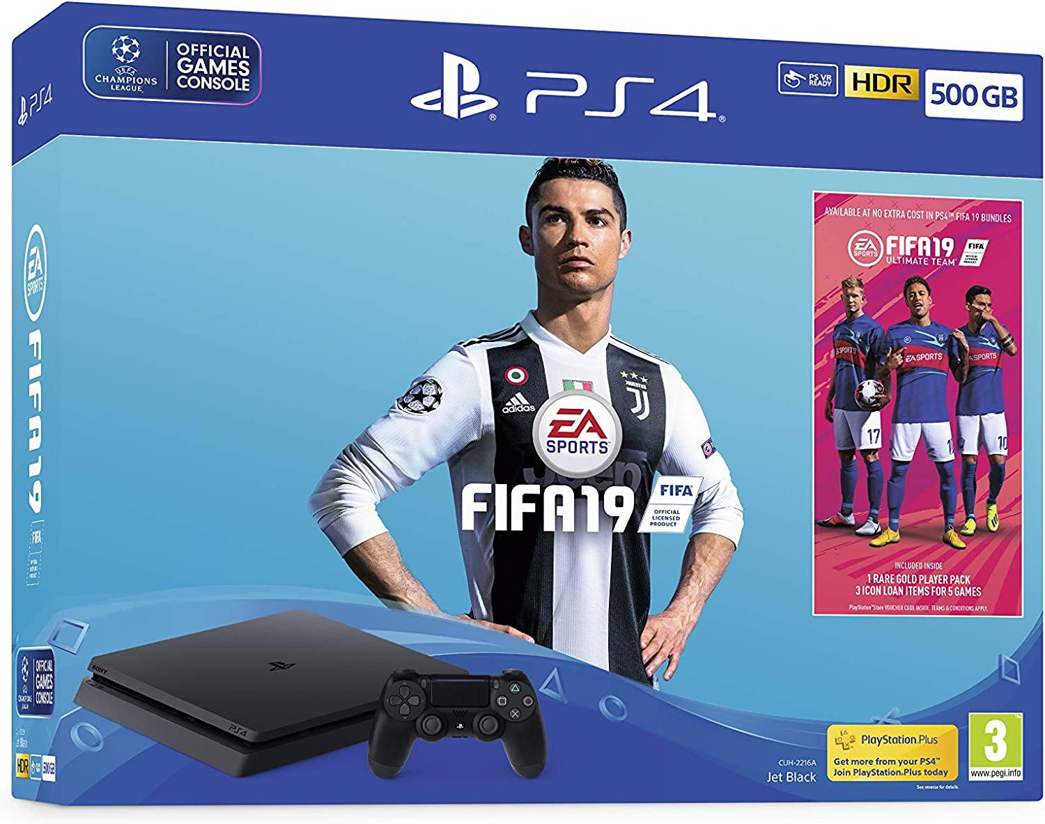 500GB FIFA 19 Bundle with Ultimate Team Icons and Rare Player Pack ...