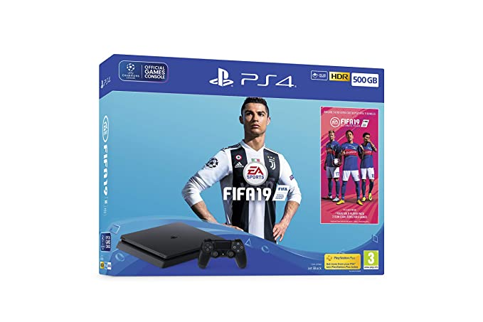 2214a32d41ec Sony PlayStation 4 500GB Console (Black) with FIFA 19 Ultimate Team ...