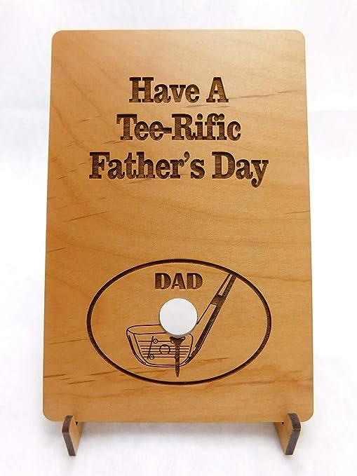 Amazon.com: Tarjeta de madera personalizada para el día del ...