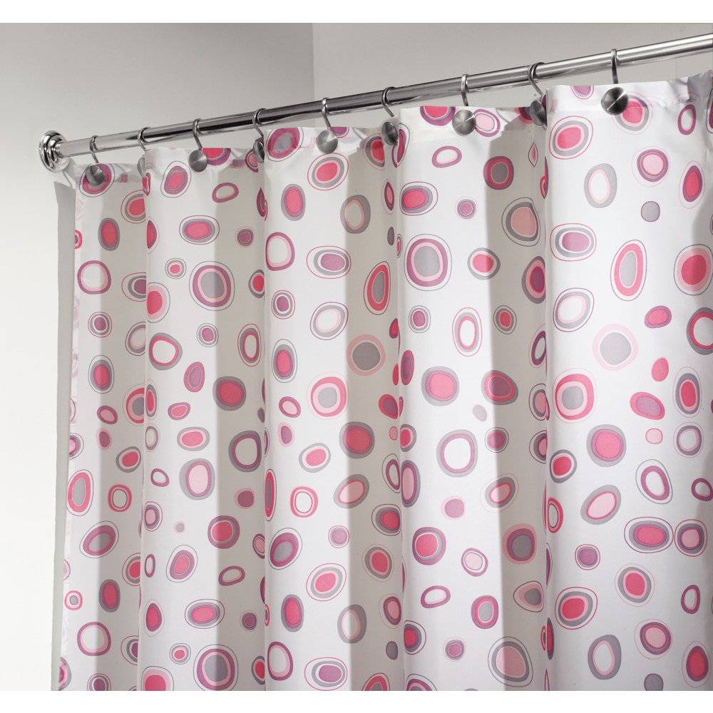 pink grey shower curtain. Amazon com  InterDesign Kiko Geometric Fabric Shower Curtain 72 x Pink Gray Home Kitchen