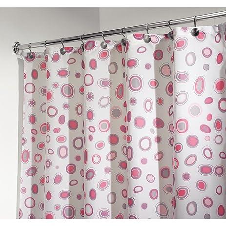 InterDesign Kiko Geometric Fabric Shower Curtain