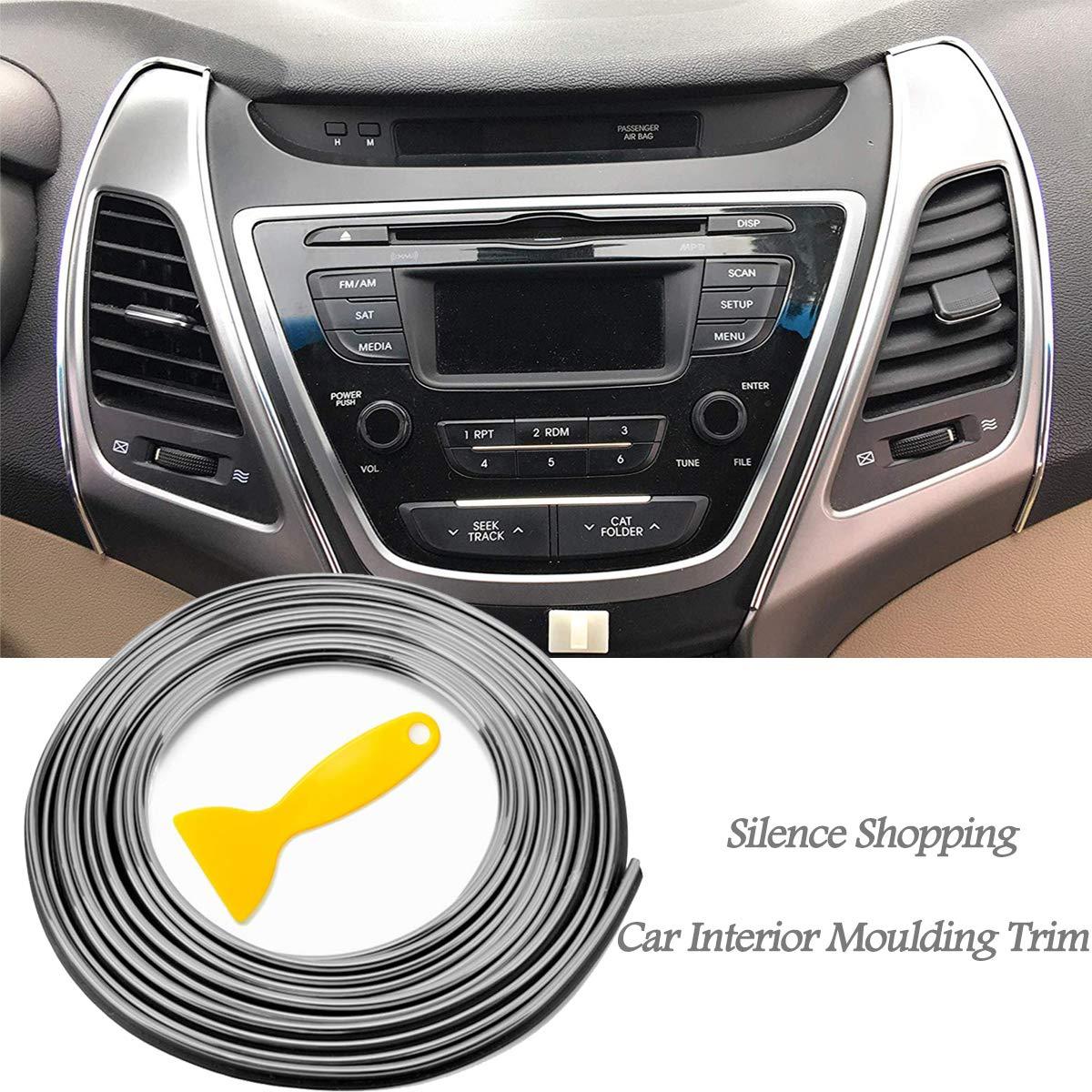 Red Silence Shopping 5M 3D bricolage automobile moteur de voiture int/érieur d/écoration ext/érieure moulage Trim ligne de bande Autocollant