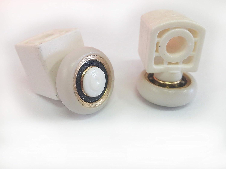 Repuesto de rodamientos para mampara de ducha para puertas correderas Kit de 2 piezas Mod 20 x 6 TDA: Amazon.es: Bricolaje y herramientas