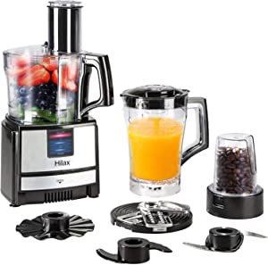 Food Processors - Food Processor Blender Combo, Electric Food Chopper, Grinder for Meat, Multi Mixer Machine with Dough Blade 550W