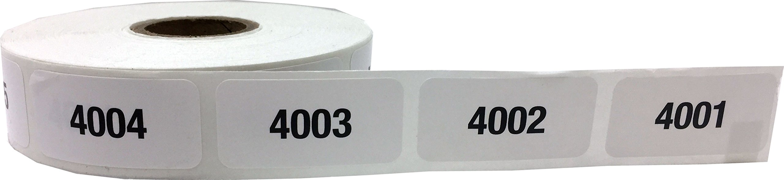Consecutive Number Labels Bulk Pack Numbers 1 Through 10,000 White/Black .75 x 1.5 Rectangle Small Number Stickers For Inventory by InStockLabels.com (Image #7)