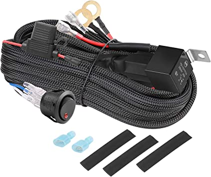 Amazon.com: LED Light Bar Wiring Harness Auto Power Plus Wiring ... how to wire offroad lights with a relay and switch Amazon.com