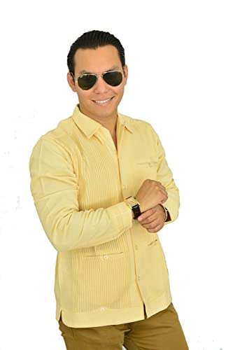92e689065f Camisa Guayabera Yucateca Casual Lino Presidencial Original cfkkprsml12