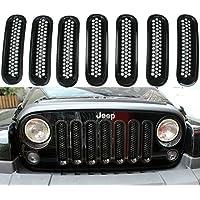 Jeep Wrangler Black Front Grill Mesh Grille Insert Kit