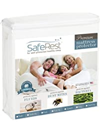 SafeRest King Size Premium Hypoallergenic Waterproof Mattress Protector - Vinyl Free