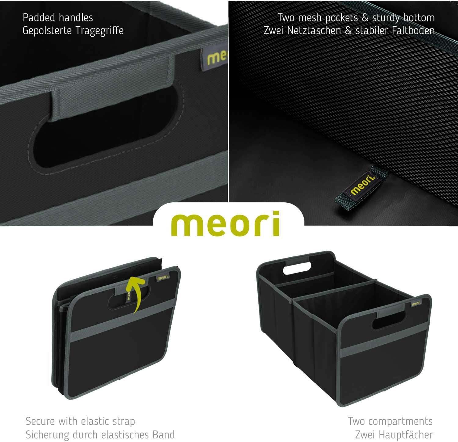Amazon Com Meori Black Foldable Box Classic Large Lava 2 Pack