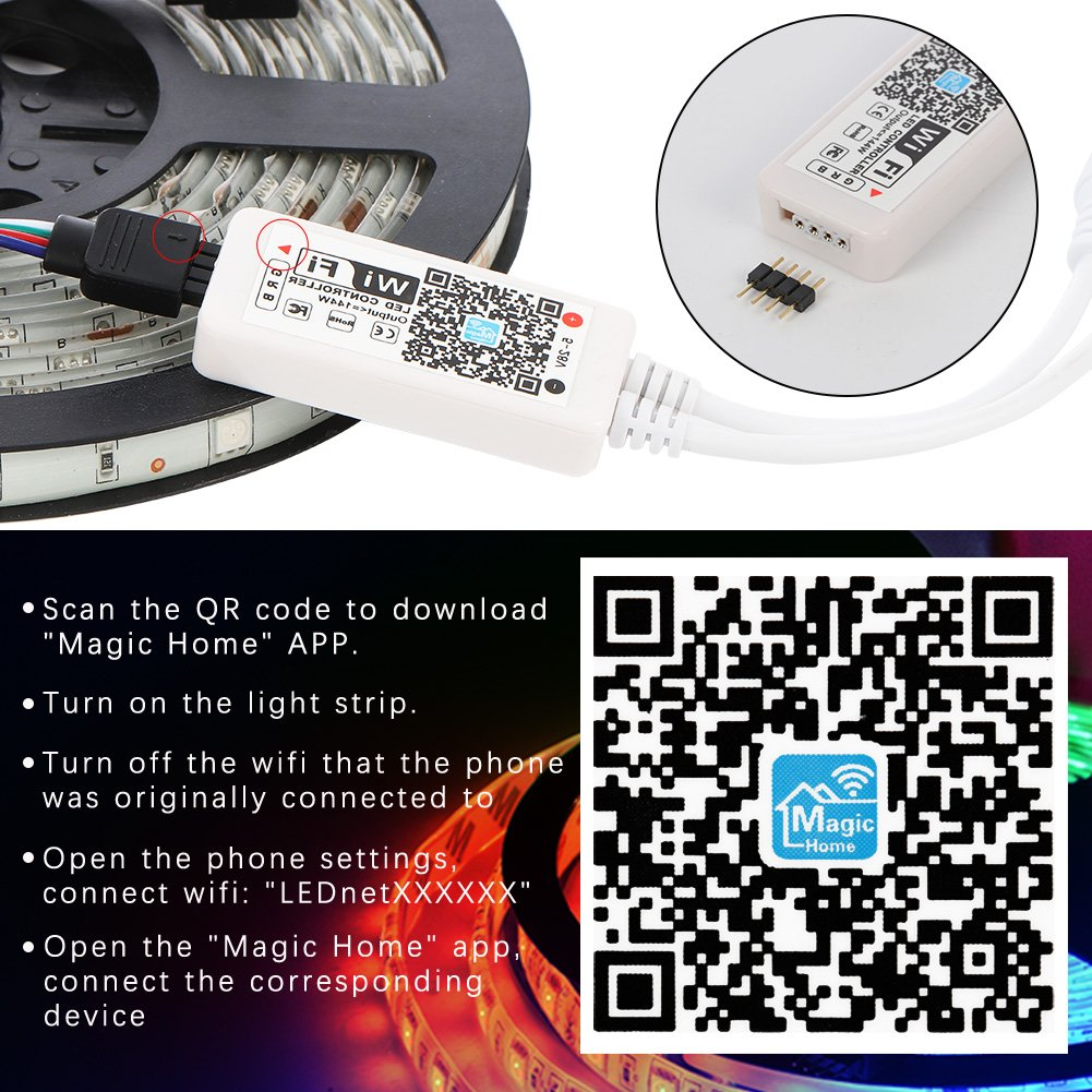 Litake Led Strip Lights 164ft Waterproof Light Extending A Lighting Circuit Diy Tips Projects Advice Uk Lets Kit Wifi Smart Phone App Controlled 300 Leds 5050 Ip65 Working
