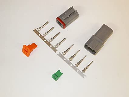 amazon com deutsch 4 pin connector kit w housing, terminals, pinsHarley Davidson Wiring Connectors 24 Pin Black And Gray #9
