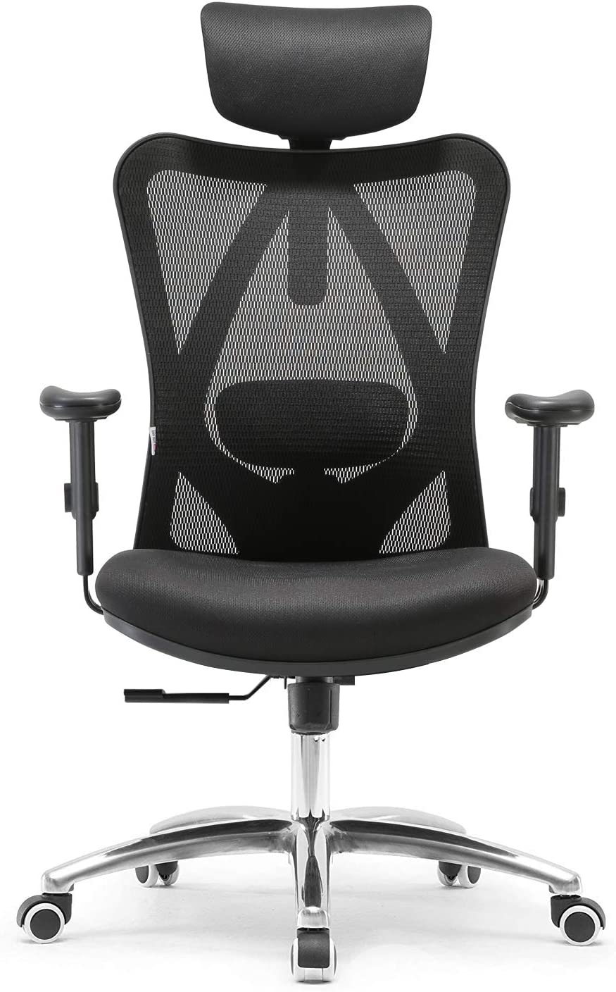 SIHOO Ergonomic Office Chair UK - Adjustable Headrest