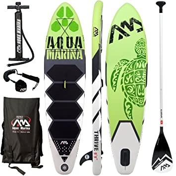 Aqua Marina THRIVE Sup Inflatable Stand Up Paddle Surf Board Remo Board, Board+Sport Paddle: Amazon.es: Deportes y aire libre