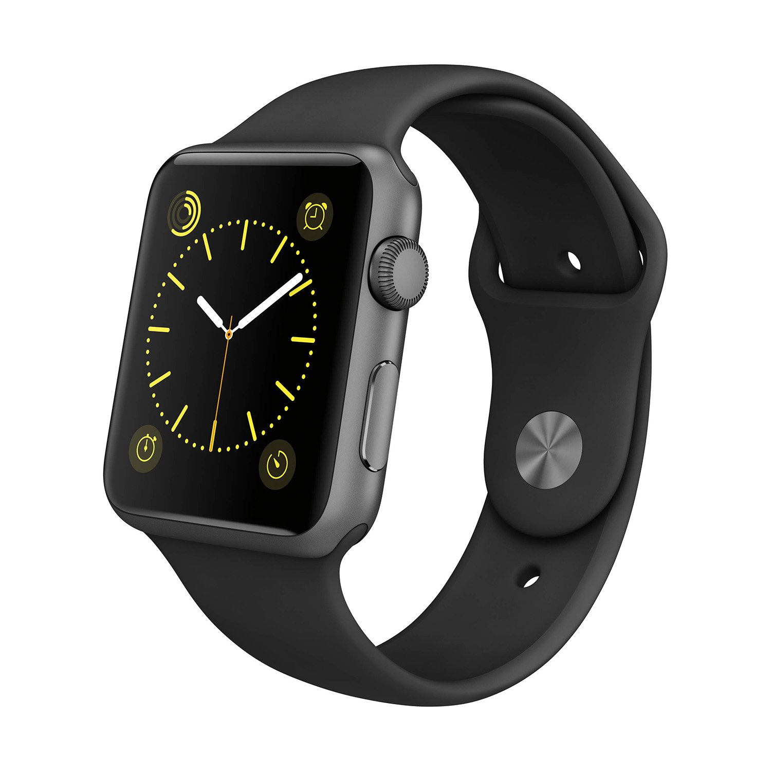 Apple Watch Sport 38mm with Space Gray Aluminum Case and Black Sport Band - MJ2X2LLA (Renewed)