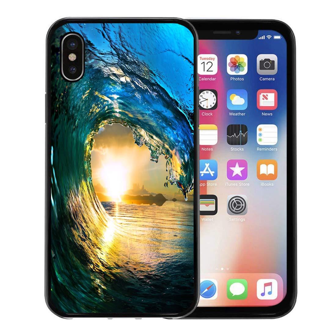 Amazon Com Emvency Phone Case For Apple Iphone Xs Case Blue