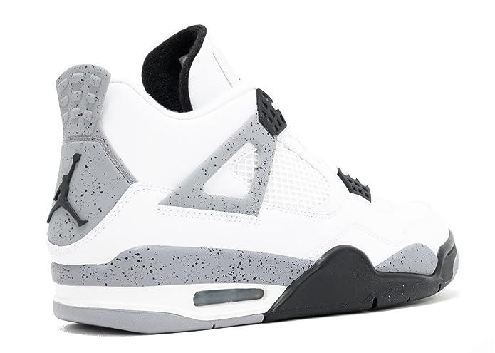 reputable site 8a186 6745c Amazon.com   NIKE Air Jordan 4 Retro White Cement (308497-103) (7 D(M) US)    Basketball