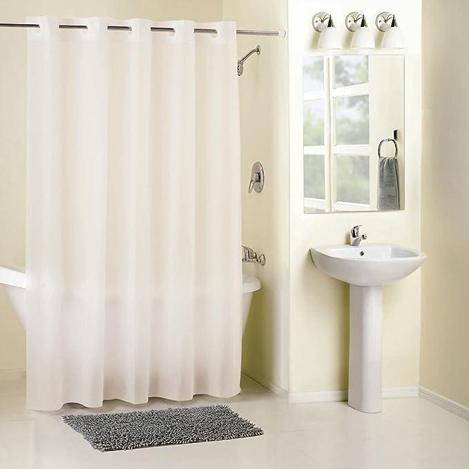 Amazon Hookless PEVA Shower Curtain