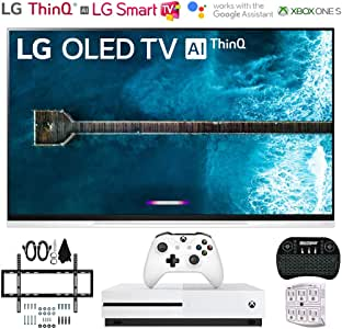 """LG OLED55E9PUA 55"""" E9 4K HDR OLED Glass Smart TV w/AI ThinQ (2019 Model) w/Xbox Bundle Includes Microsoft Xbox One S 1TB, Flat Wall Mount Kit Ultimate Bundle for 32-60 inch TVs and More"""
