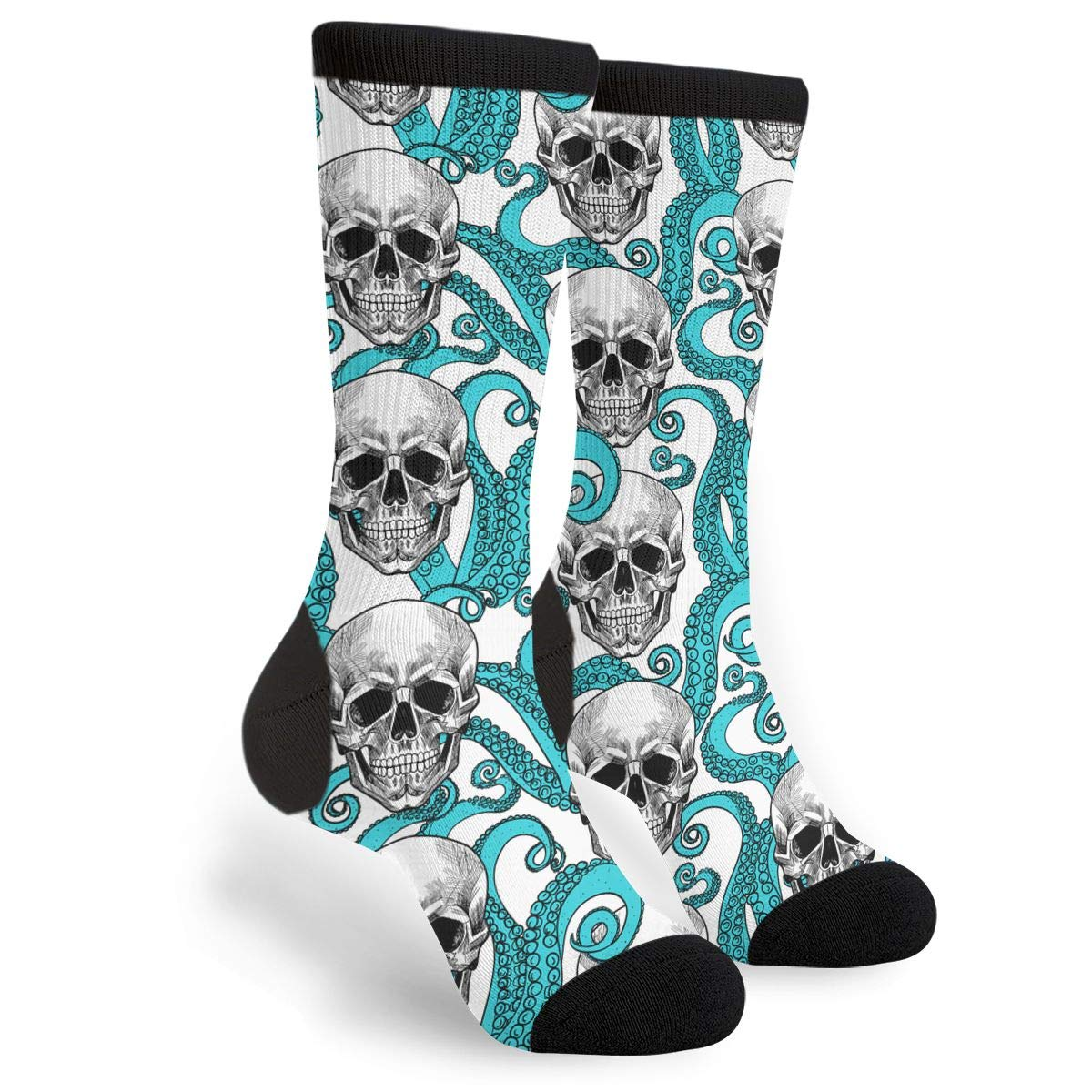 YISHOW Skull And Tentacles Of The Octopus Personalized Casual Socks