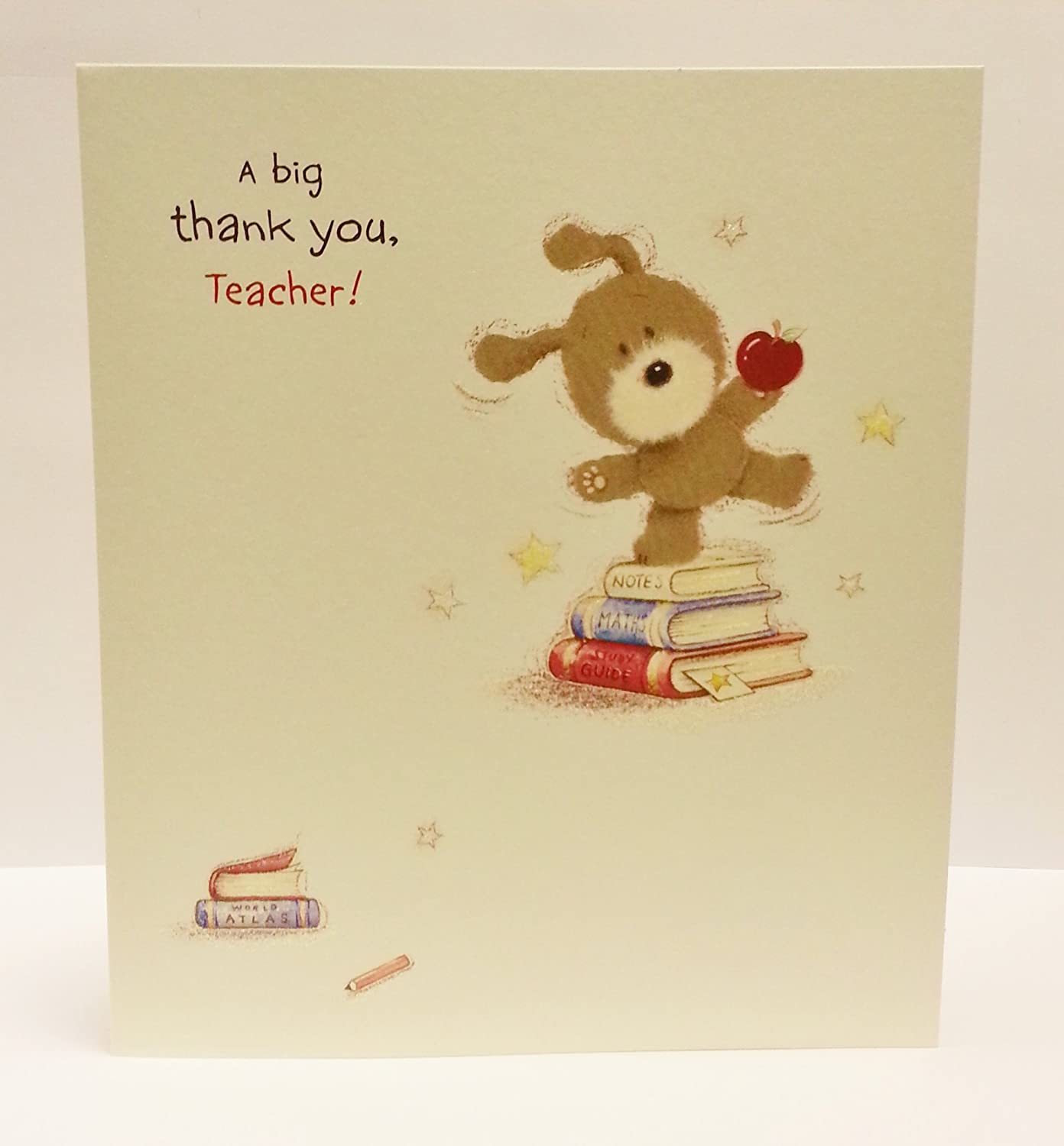 Amazon Lots Of Woof A Big Thank You Teacher Greeting Card