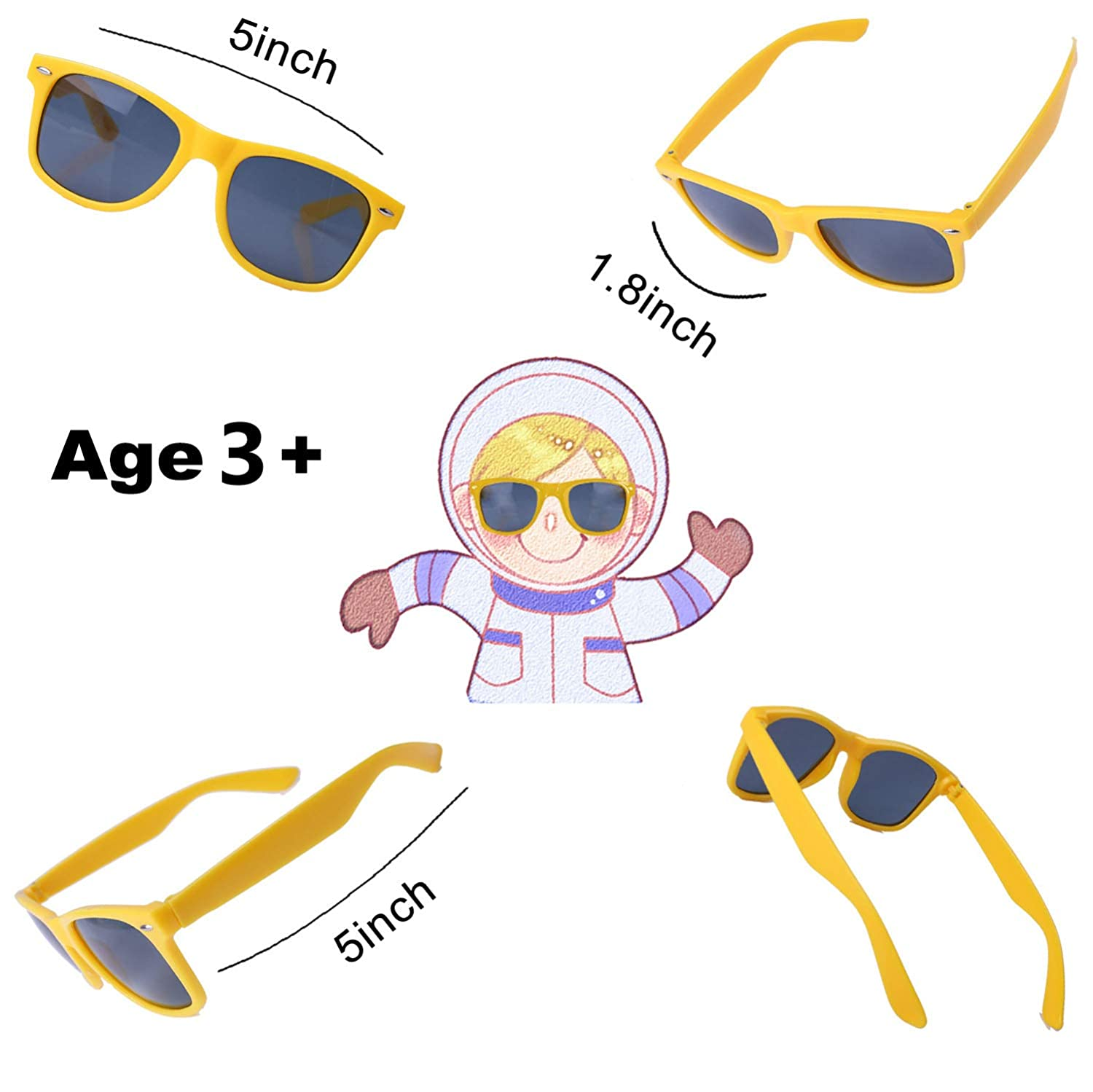Party Sunglasses for Kids with UV400 Protection Eyewear Neon Sunglasses For Boys,Girls Great Gift for Party Favors Birthday Party and Outdoor Activity( 12 Pack )
