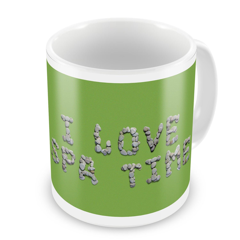 Coffee Mug I Love Spa Time Spa Stones Rocks - NEONBLOND