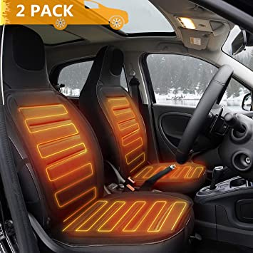 12V Car Heating Seat Cushion Winter Car Seat Heater Cover Heated Pad Adjustable Temperature Comfortable Cooling Car Cushion Pad