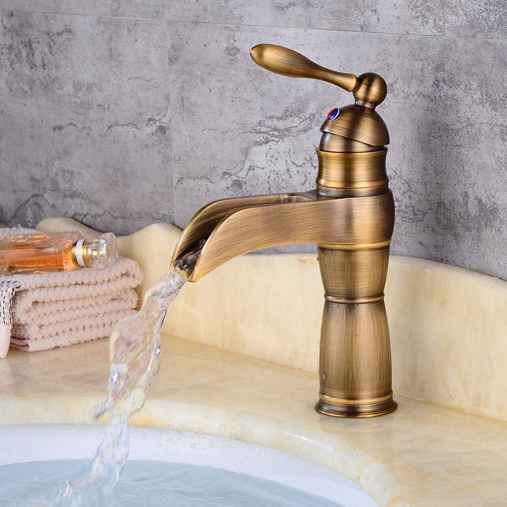 GZF Wasserhahn Wasserhahn Wasserhahn Europäischen Wasserhahn Waschbecken Wasserfall Wasserhahn Unter Theke heiß Wasserhahn Bad Waschbecken Wasserhahn cefa14