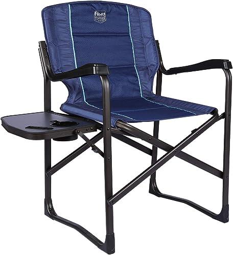 TIMBER RIDGE Aluminum Folding Directors Chair Full Back Padded