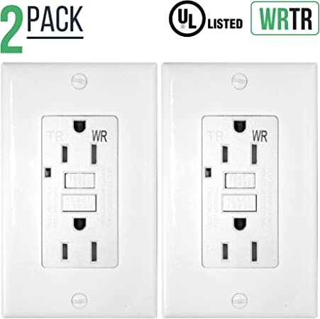 Decorator Receptacles 15A TAMPER WEATHER RESISTANT White 15 Amp TR//WR 1 pc