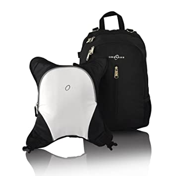 Black//White Obersee Rio Diaper Bag Backpack with Detachable Cooler