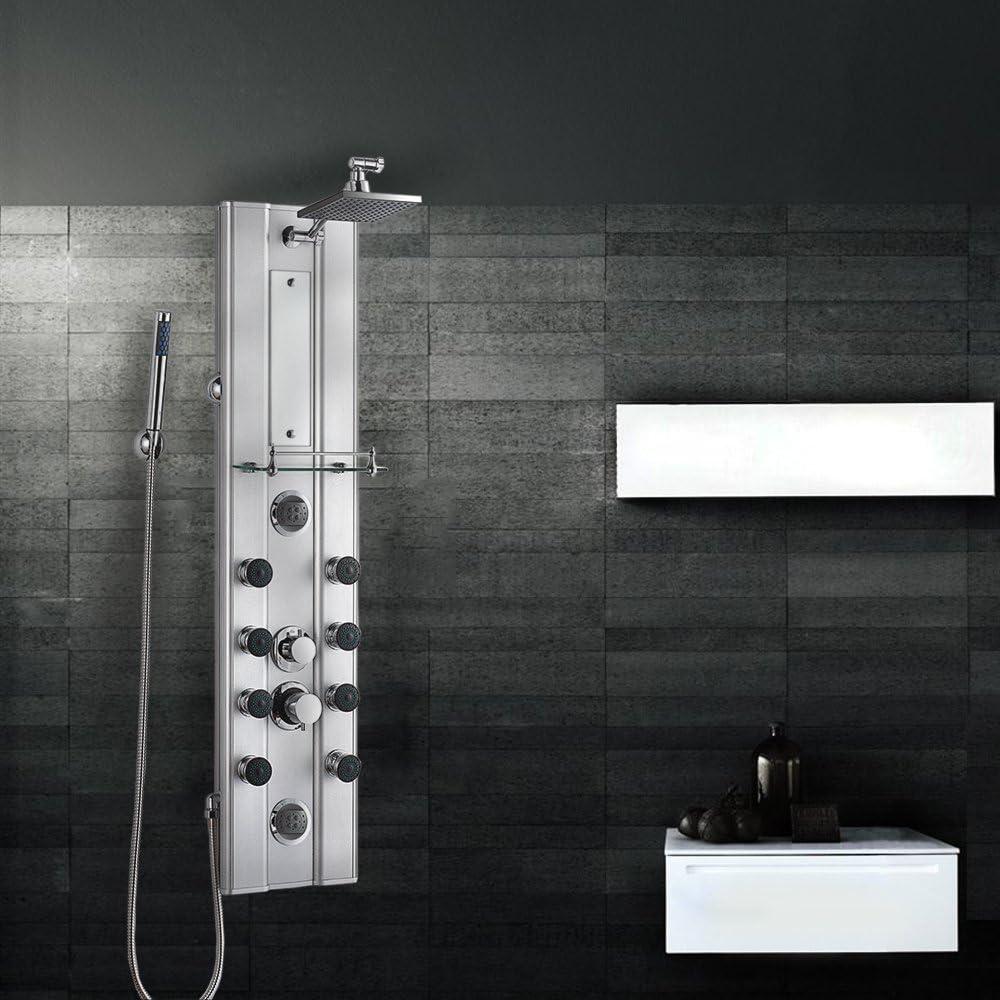 Diseño de acero inoxidable XL Grafner panel de ducha columna de ...